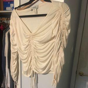Cream blouse never worn size L fits M/L.